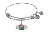 Angelica Brass with White Finish Friends Central Perk Expandable Bangle style: WGEL1298