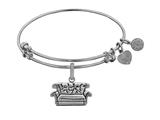 Angelica Brass with White Finish Friends Central Perk Couch Expandable Bangle style: WGEL1299