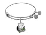Brass White Finish Panda Charm On White Angelica Collection Bangle style: WGEL1373