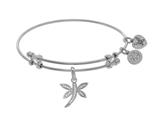 Brass With White Dragonfly Charm On WhiteAngelica Bangle style: WGEL1699