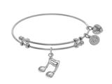 Brass With White Music Sign Charm On White Angelic A Bangle style: WGEL1722