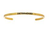 "Stainless Steel Yellow Finish ""determined""diamond Cuff Bangle style: YINT5042"