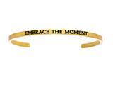 "Intuition Stainless Steel Yellow Finish ""embrace The Moment""Cuff Bangle style: YINT5045"