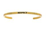 "Intuition Stainless Steel Yellow Finish ""respect""Cuff Bangle style: YINT5062"
