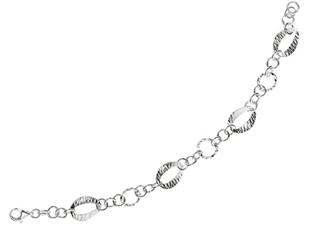 Sterling Silver 7.5 Inch Oval Link Bracelet