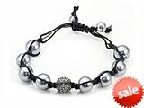 Adjustable Rhinestone Ball Bracelet style: SB108