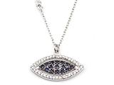 Silver CZ Eye Necklace style: SB107