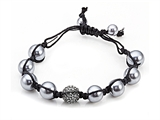 Adjustable Rhinestone Ball Bracelet style: SB108
