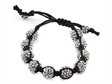 Adjustable Rhinestone Ball Bracelet