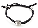 Adjustable Rhinestone Ball String Bracelet