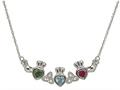 ShanOre® Claddagh Trinity Mothers Pendant with 3 Simulated Stones of your choice (5mm Heart Shape)