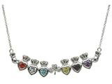 ShanOre® Claddagh Shamrock Mothers CZ Pendant with 6 Simulated Stones of your choice (5mm Heart Shape) style: MP6S