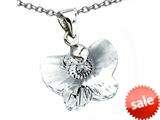 925 Sterling Silver Clear White Crystal Butterfly Pendant made with Swarovski Elements on 18 Inch Chain