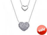 Purple Heart Necklace made with Swarovski Elements on 20 Inch Adjustable Chain style: SF1021