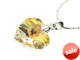 925 Sterling Silver Multicolor Crystal Heart Pendant made with Swarovski Elements on 18 Inch Chain