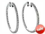 Genuine 1.00 cttw  Diamonds Hoop Earrings - IGI Certified style: SK11415