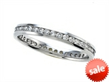 0.55 cttw Round Diamonds Eternity Band - IGI Certified style: SK914618K