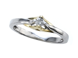 Round Diamonds Two Tone Engagement Ring