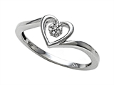 Promise Heart Shape Ring with Round Diamonds