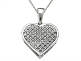 Genuine Heart Shaped and Round Diamonds Pendant