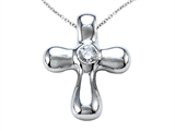 Genuine Baby Cross Pendant with a Diamond