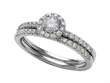 Round Diamonds Wedding Engagement Ring Set - IGI Certified