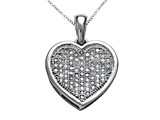 Genuine Heart Shaped and Round Diamonds Pendant style: SK14061