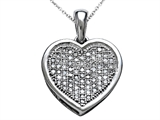 Genuine Heart Shaped and Round Diamonds Pendant style: SK9370