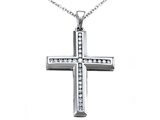 Genuine Cross Pendant with a Diamond