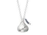 Sterling Silver Small 3D Shaped Hershey`s Kiss Pendant