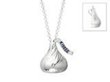 Sterling Silver Medium Flat Back Shaped Hershey`s Kiss Pendant
