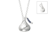 Sterling Silver Small Flat Back Shaped Hershey`s Kiss Pendant