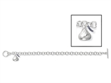 Sterling Silver Small 3D Shaped Hershey`s Kiss Bracelet with One Hershey`s Kiss Charm