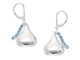 Sterling Silver Medium Flat Back Shaped Hershey`s Kiss Lever Back Earrings style: AK0064E00000SS
