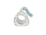 Hershey`s Kiss White CZ Small 3D Shaped Slide Bead/ Charm style: AK6704BCWS00SS