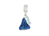 Hershey`s Kiss Blue CZ Small 3D Dangle Bead/ Charm style: AK6711BCBS00SS