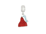 Hershey`s Kiss Red CZ Small 3D Dangle Bead/ Charm style: AK6712BCBS00SS