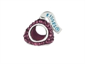 Hershey`s Kiss Purple CZ Small 3D Shaped Slide Bead/ Charm