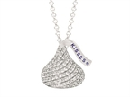Sterling Silver with CZ Medium Flat Back Shaped Hershey`s Kiss Pendant Style number: AK0068PCZ000SS
