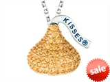 "November Birth Month CZ""s Medium Flat Back Shaped Hershey`s Kiss Pendant Necklace- Chain Included style: AK0287PYCZ00SY"