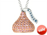 October Birthstone CZ`s Medium Flat Back Shaped Hershey`s Kiss Pendant- Chain Included style: AK0299PPCZ00SR