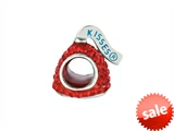 Hershey`s Kiss Red CZ Small 3D Shaped Slide Bead/ Charm