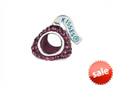 Hershey`s Kiss Purple CZ Small 3D Shaped Slide Bead/ Charm style: AK6708BCAS00SS