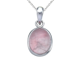 Rose Quartz Pendant with 18 Inch Chain