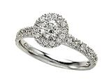 Diamond Round Engagement Ring