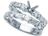 Karina B Baguette Diamonds Wedding Set