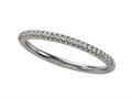 Comfort Fit Diamond Round Pave Band