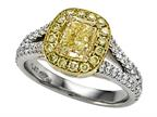 Natural Fancy Yellow Engagement Ring Style number: 4996