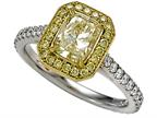 Fancy Yellow Natural Diamond Pave Ring Style number: 4997