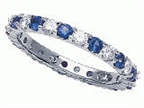 Karina B Sapphire Eternity Band Style number: 8173SD
